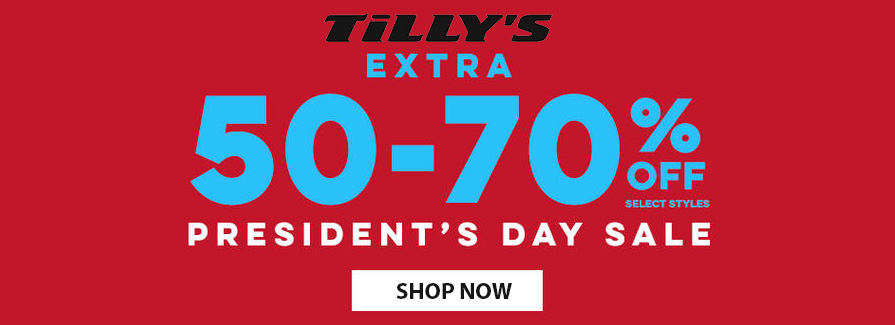 President's Day Sale! Take extra 50-70% off select styles...!!