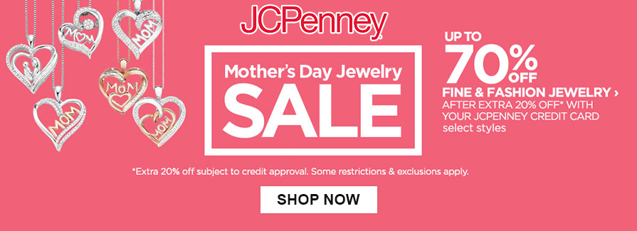 Mother's Day Jewelry Sale! Take up to 70% off fine & fashion jewelry...!!