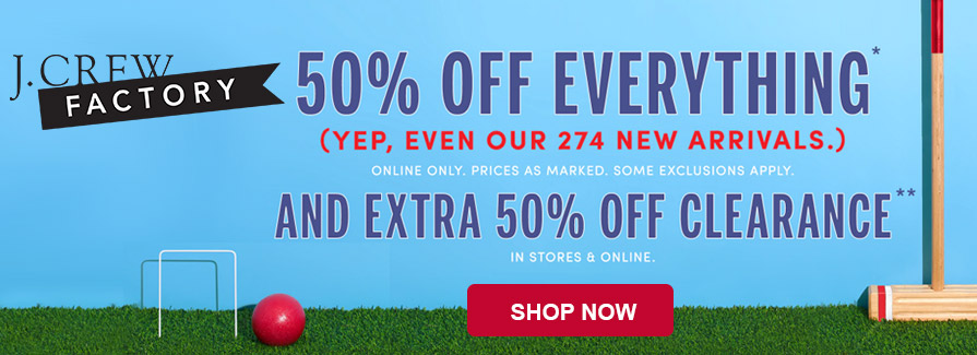 Take 50% off everything..!!