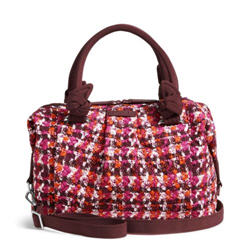 Vera Bradley Hadley Satchel Bag in Houndstooth Tweed