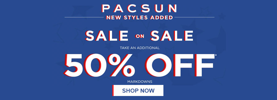 Take an Additional 50% off Markdowns