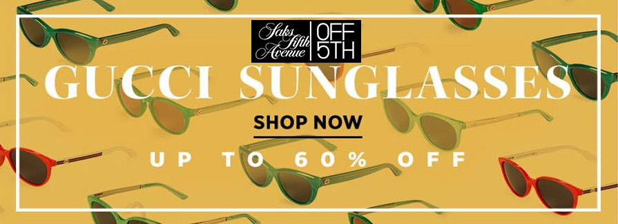 Shop GUCCI Sunglasses! Take up to 60% off..!!