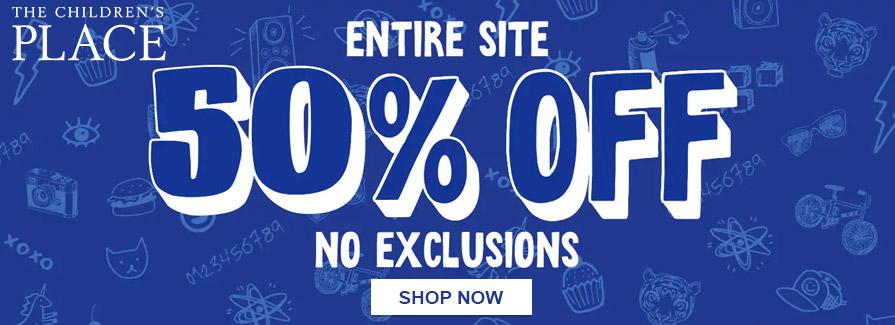 Take 50% off entire site..!!