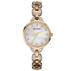 Bulova Women's Quartz Crystal Accents Rose Gold Dress Watch