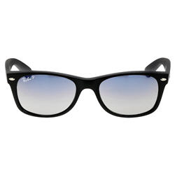 Ray-Ban Wayfarer Classic Polarized Blue Grey Black Nylon Sunglasses