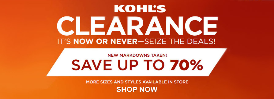 CLEARANCE! Save up to 70%
