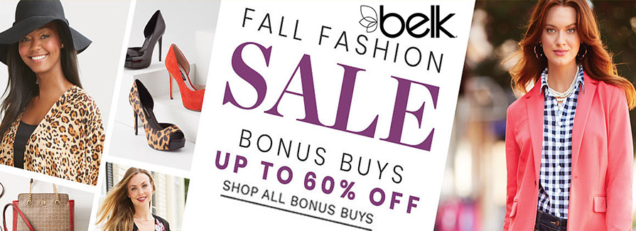 Fall Fashion Sale! Take up to 60% off..!!