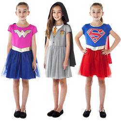 Girls Wonder Woman Halloween Costume Dresses