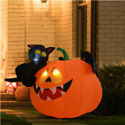 4' Halloween Inflatable Pumpkin