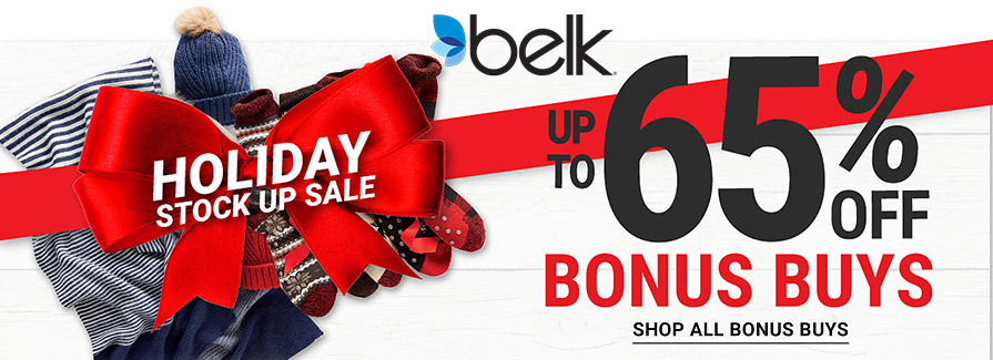 Holiday Stock Up Sale! Take up to 65% off bonus buys...!!