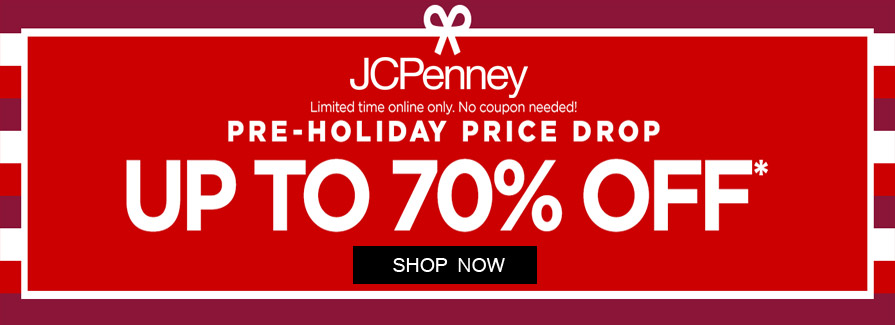 Pre-Holiday Price Drop! Take up to 70% off select styles...!!