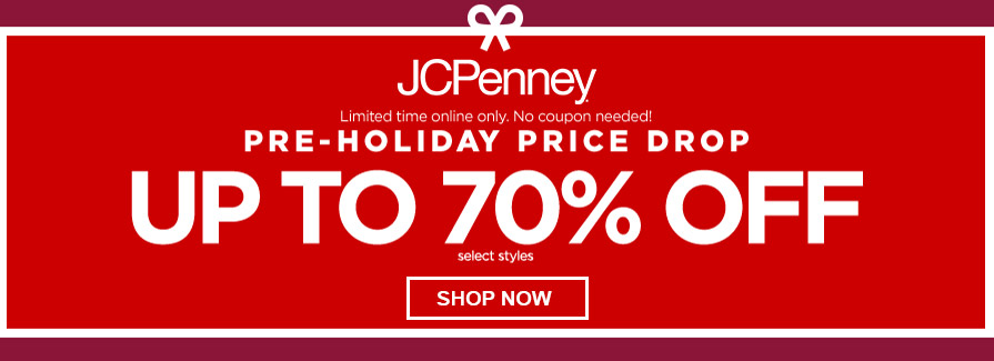 Pre-Holiday Up to 70% Off