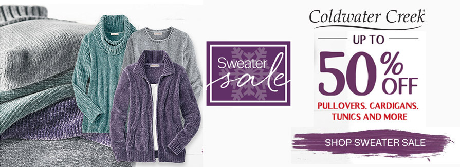 Up to 50% Off Sweater Sale!