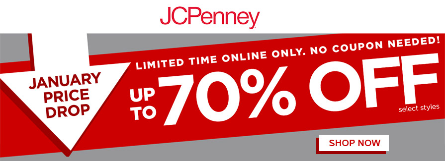 January Price Drop! Take up to 70% off select styles..!!