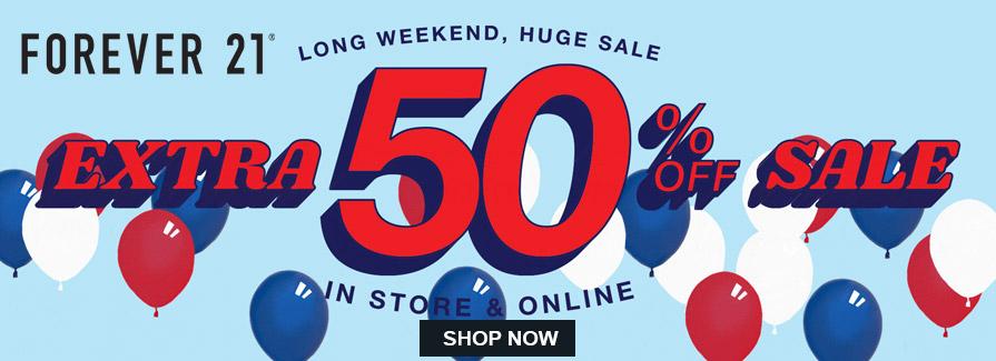 Long Weekend Huge Sale! Take extra 50% off sale..!!