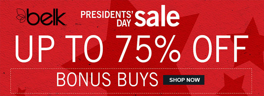 Up to 75% Off President Day Sale!