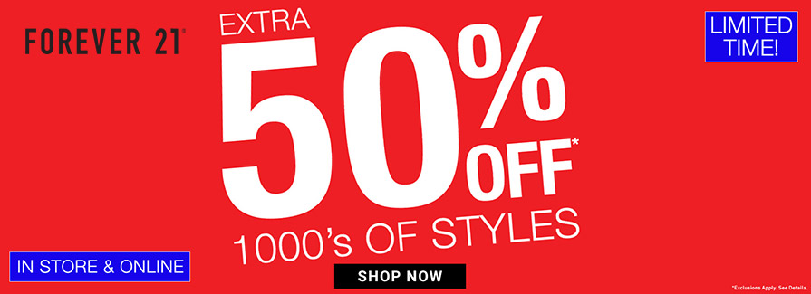 Take extra 50% off 1000's of styles..!!