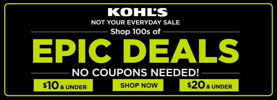 Epic Deals! $10 & Under | $20 & Under