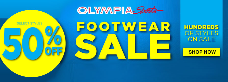Footwear Sale! Take 50% off select styles..!!