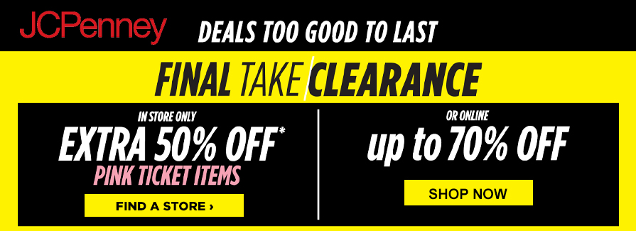 Final Take Clearance! Take up to 70% Off..!!