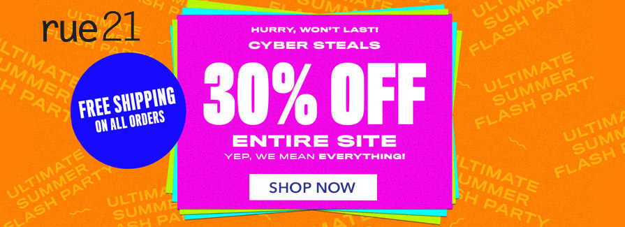 Cyber Steals! Take 30% off entire site..!!