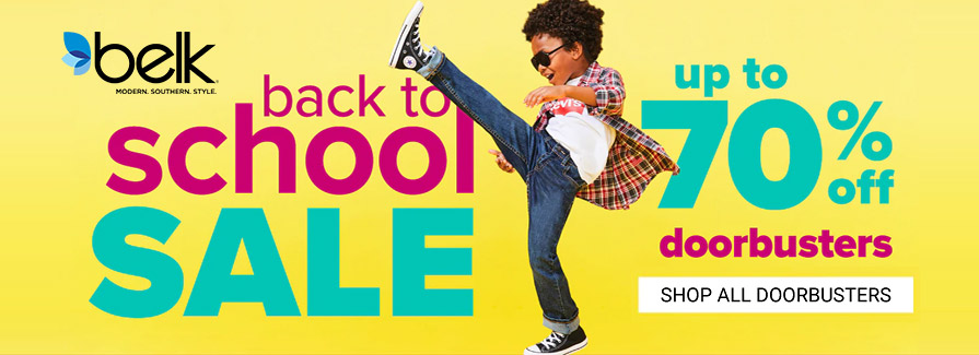 Back To School Sale! Take up to 70% off Doorbusters..!!