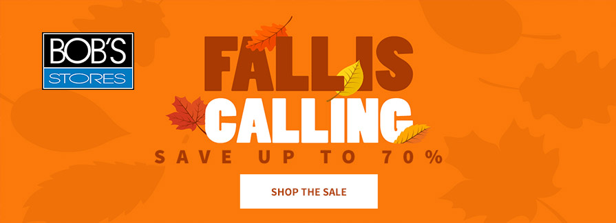 Fall Is Calling! Save up to 70%