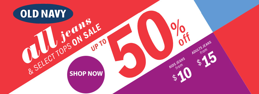 All Jeans & Select Tops On Sale! Take up to 50% off