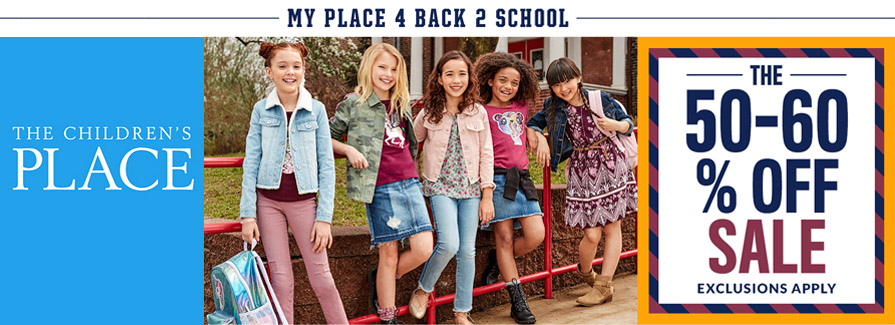 My Place 4 Back To School! The 50-60% off Sale