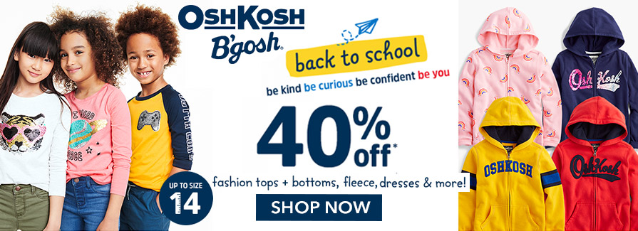 Take 40% off fashion tops, bottoms, fleece, dresses & more