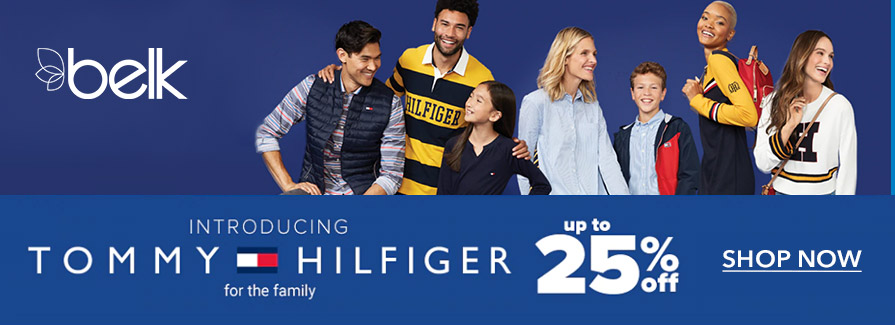 Take up to 25% off Tommy Hilfiger styles for the family