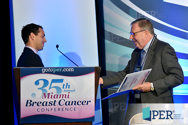 Patrick I. Borgen, MD; Phil Talamo, President of PER