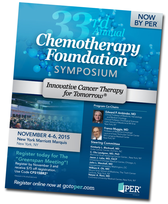 Chemotherapy Foundation Symposium brochure
