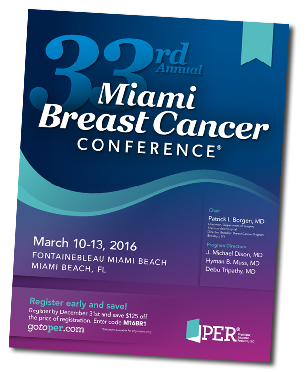 Miami Breast Cancer Conference brochure