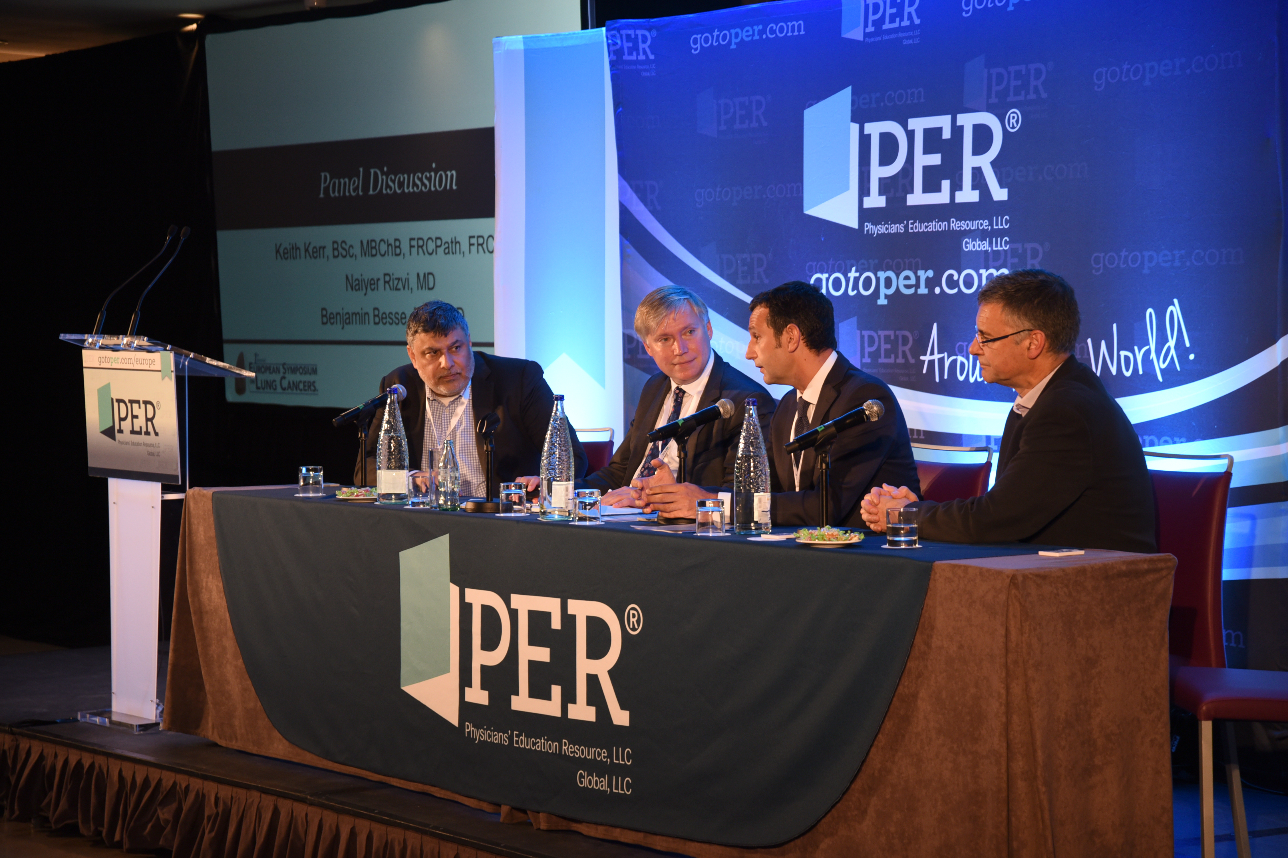 Naiyer Rizvi, MD; Prof. Dr. med. Martin Reck; Benjamin Besse, MD, PhD; Keith Kerr, BSc, MB, ChB, FRCPath, FRCPE