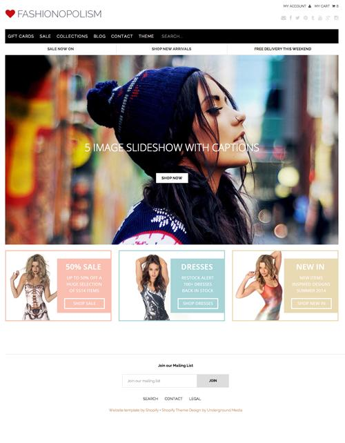 Shopify Themes for your Online Store - fashion