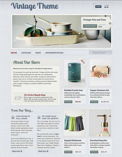 Shopify Themes for your Online Store - vintage-theme