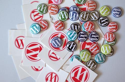 wordpress logo displayed