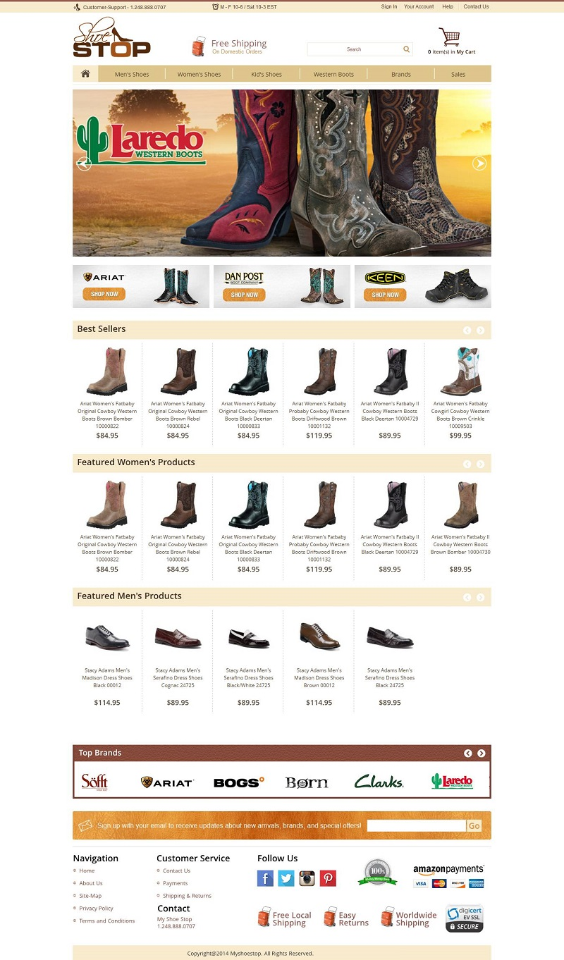Amazon Webstore Creative Shoe Store
