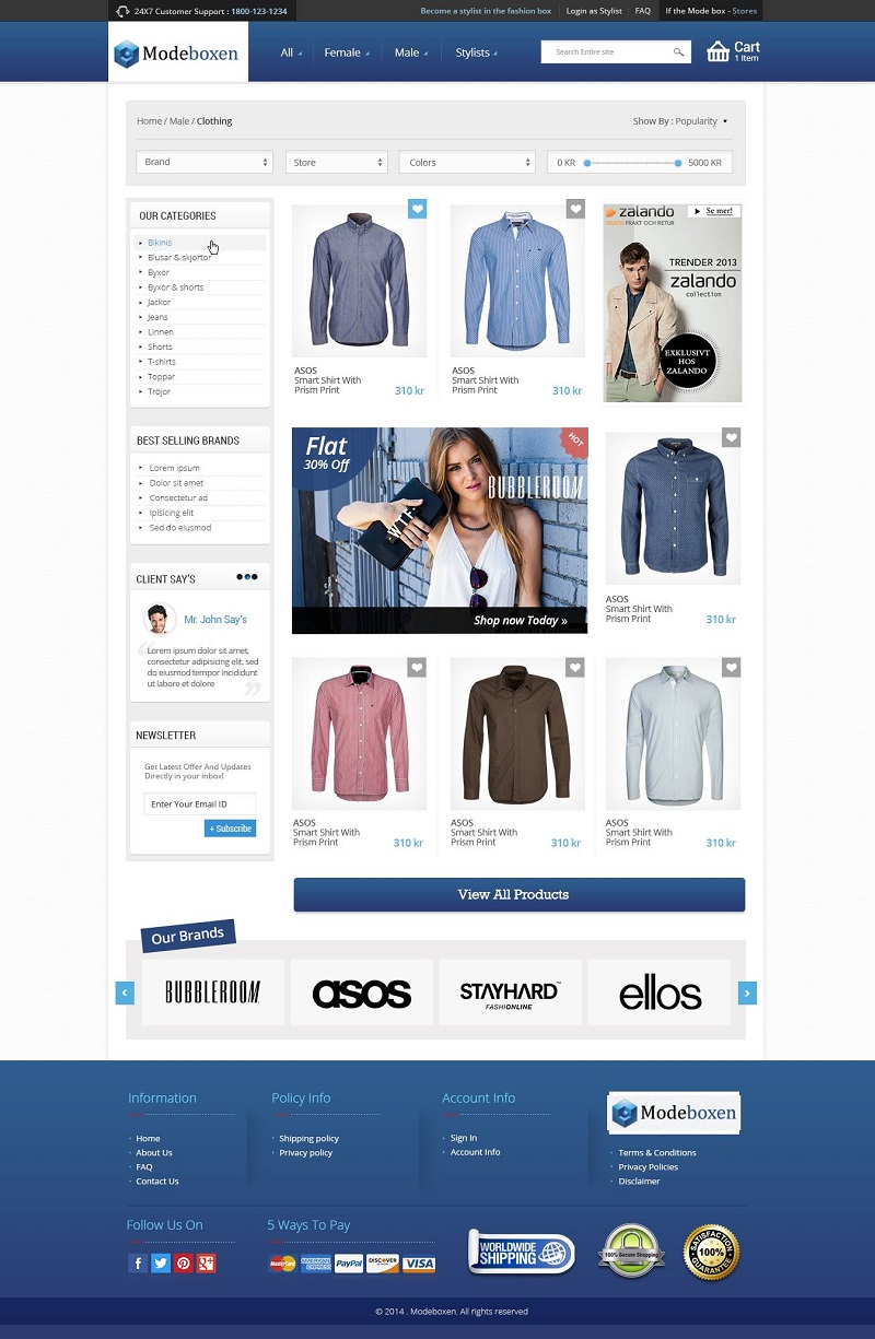 Clothing Ecommerce Website Design