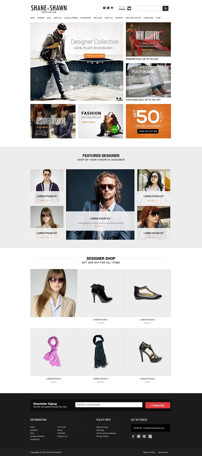 Creative Shopify eCommerce store