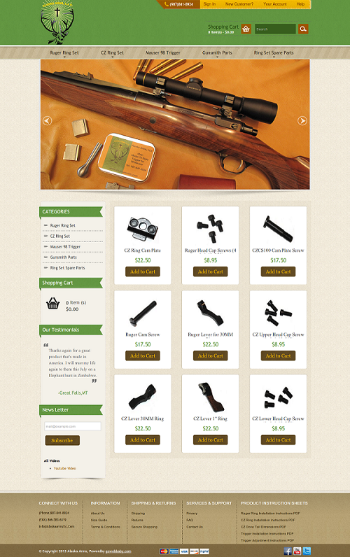 Alaska Arms LLC1 customized online amazon webstore