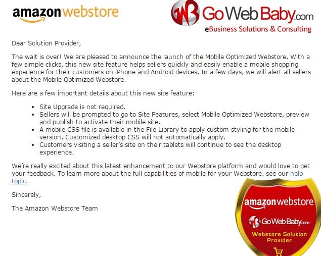 Amazon Webstore Mobile Optimized