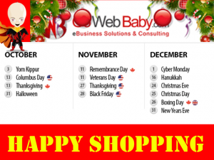 Ecommerce Website Holiday Season Sales - Holiday Dates