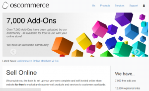 small ecommerce business - osCommerce