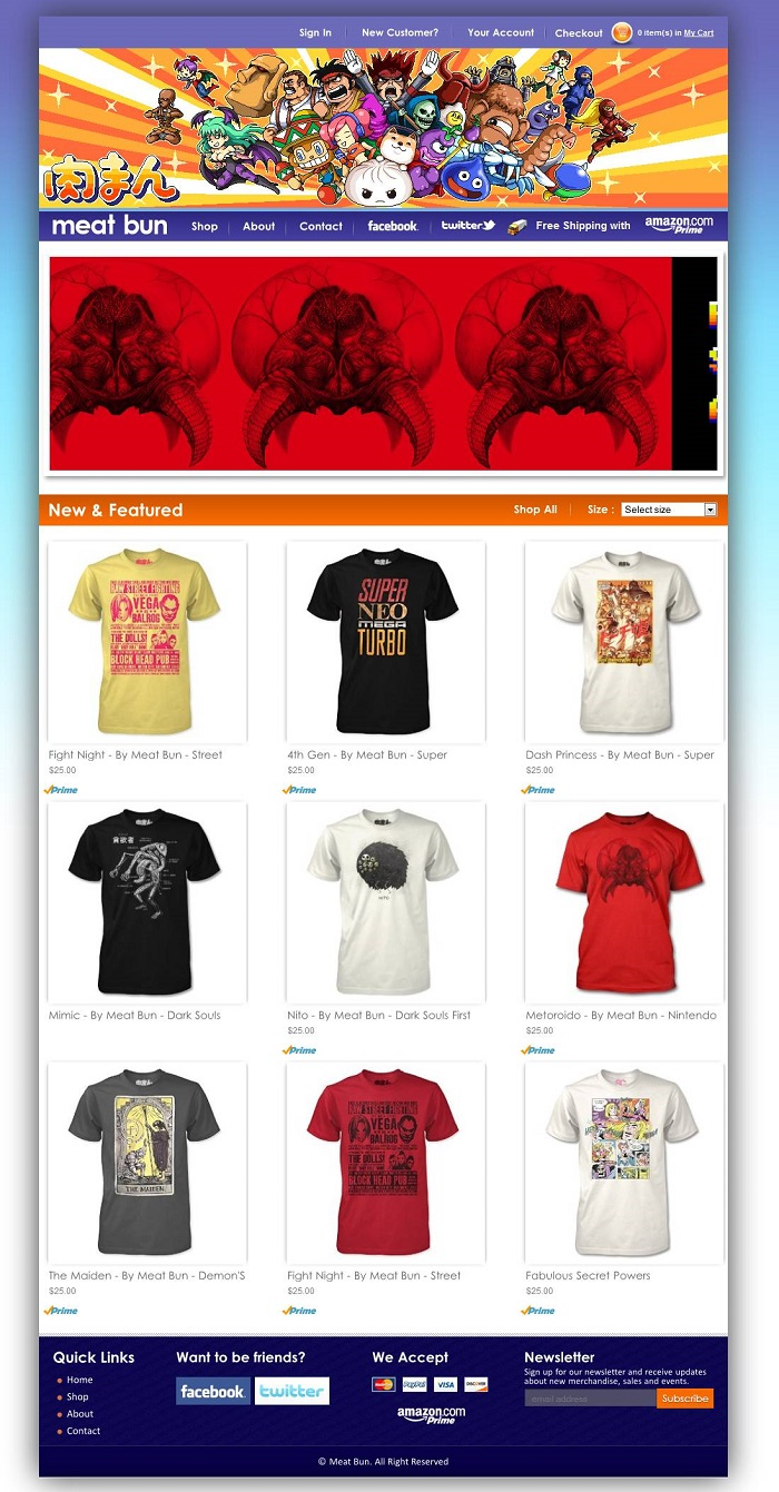 TShir Ecommerce Store on Amazon Webstore