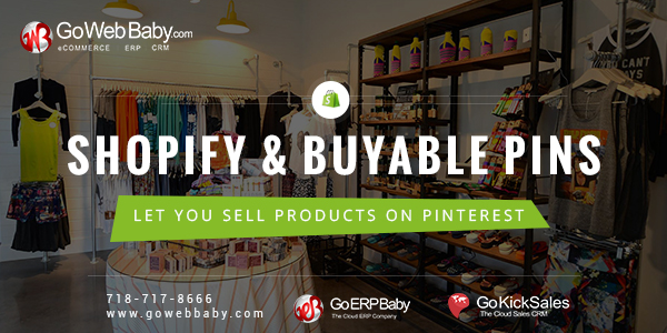 Shopify & Buyable Pins on Pinterest  let you Sell Products