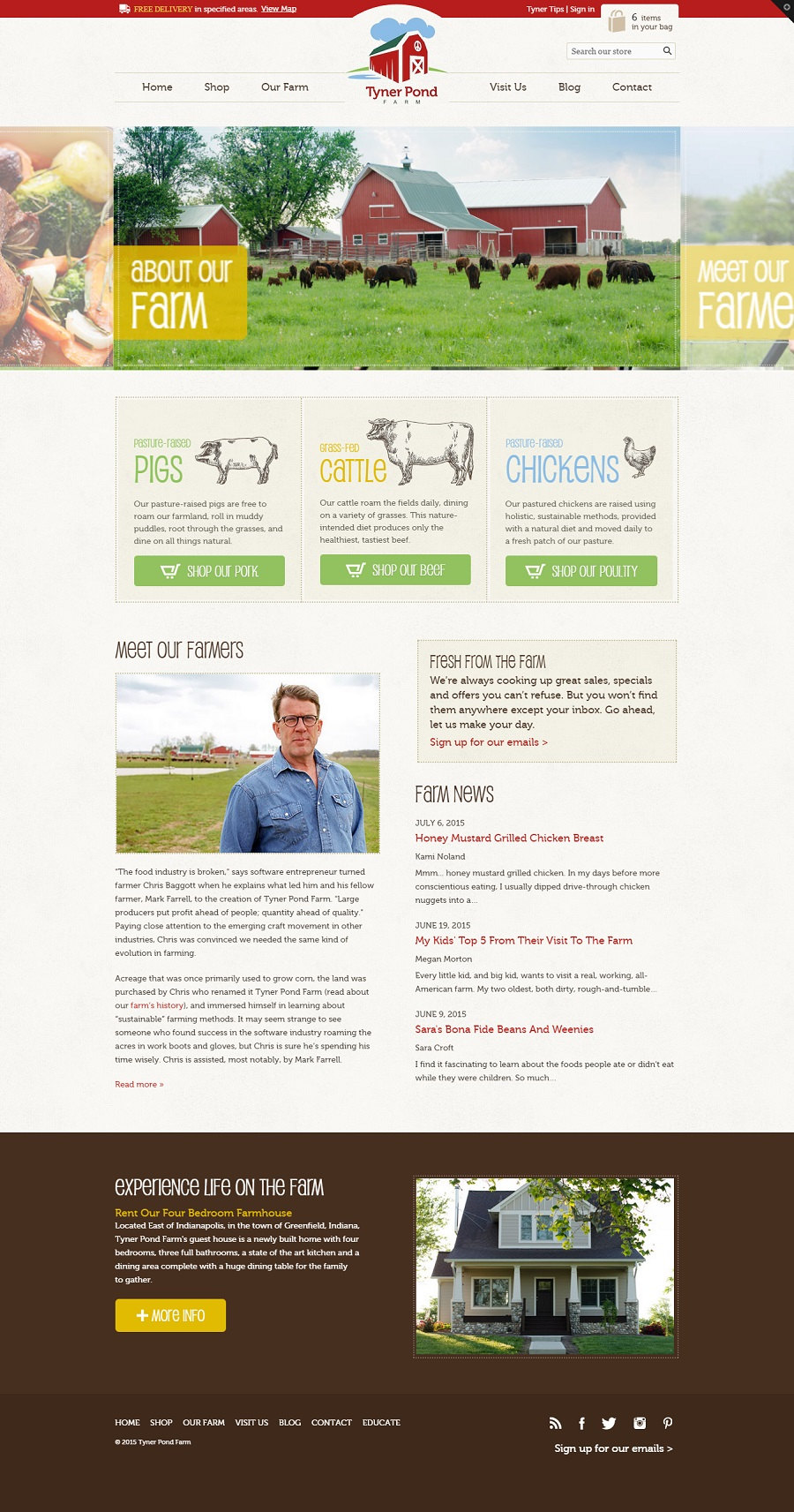 Shopify Theme Farm and Meat Products