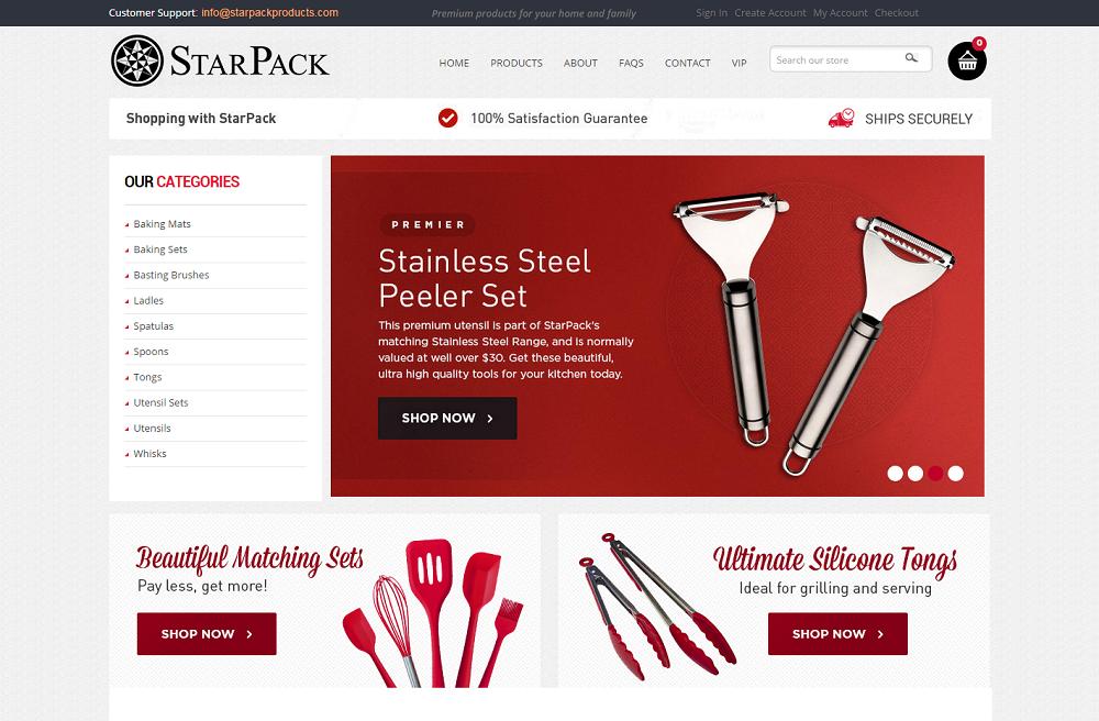 shopify retailer - Starpack