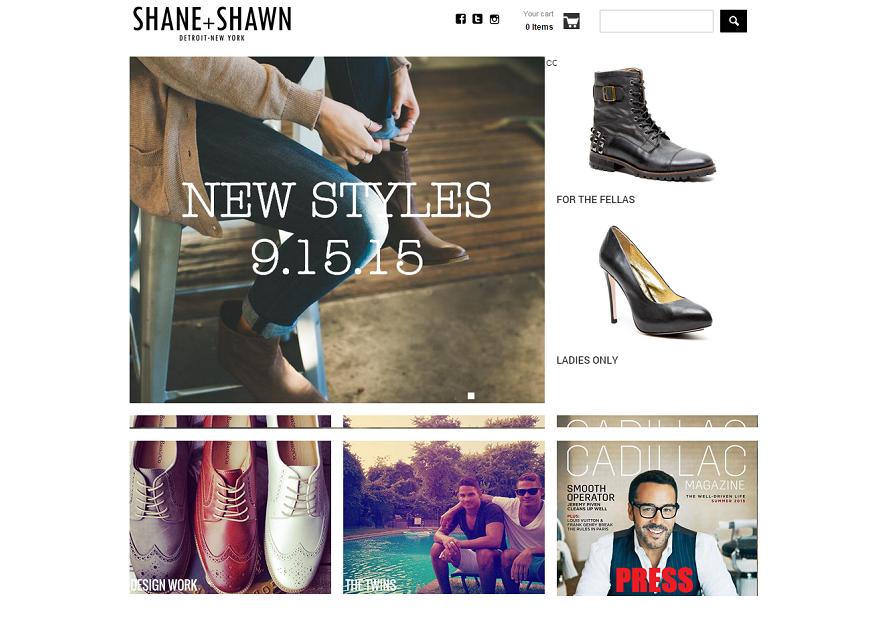 shopify retailer- Shaneandshawn